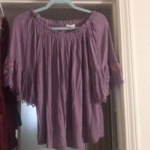 Lavender off the shoulder top!